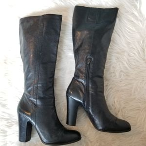 Nine West Leather Knee High Boots, Size 10 M